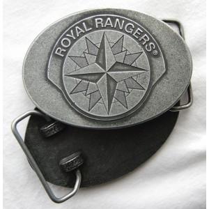 Kožený pásek s kovovou přezkou RR